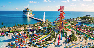 Enjoy up to 10,000 miles and up to $50 to spend on your Royal Caribbean cruise